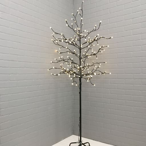 Corner Indoor Lighted Tree