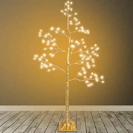 Yellow Indoor Lighted Tree