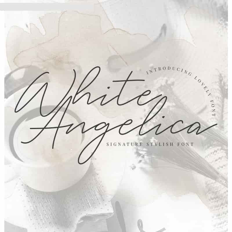 White Angelica Font