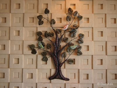 Ancient Metal Wall Tree Rusty