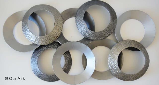 Abstract- Metal-Ring-Wall-Art